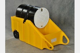 Eagle 1617Y Containment Dolly for 55 gal Drums, Yellow - 55 Gallon Drum Spill Containment