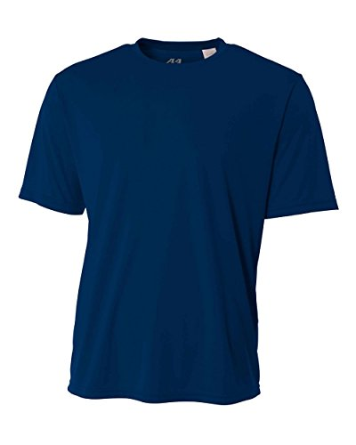 Authentic Sports Shop Navy Blue Adult Large Short Sleeve Wicking Cool & Comfortable Shirt/Undershirt ()