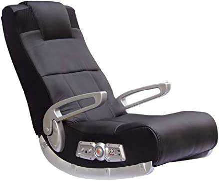 X Rocker, 5143601, II SE 2.1 Black Leather Floor Video Gaming Chair for Adult, Teen, and Kid Gamers with Armrest and Headrest, 27.8 x 18.5 x 17.5, Black