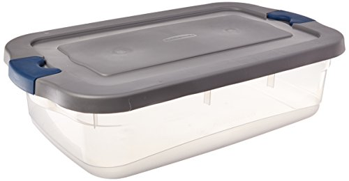 Clear/Gray 7.75-Gallon  Roughneck Clears Storage Box, Set of