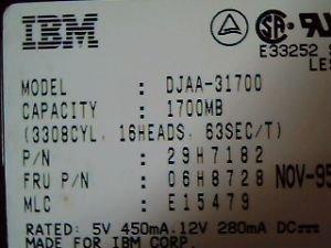 IBM 06H8728 1.7GB 3.5 IDE Hard Drive ()