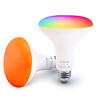 Smart Light Bulb,Dimmable Light Bulbs Compatible with Alexa,Echo,Google Home,No Hub Required,2.4G WiFi Light Bulb BR30 E26 13W(100w Equivalent)2 Packs