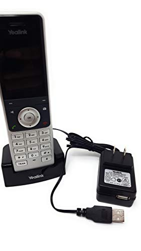 Yealink W60P IP Cordless Phones Office Bundle-DECT Handset and Base Unit, Power Supply and Microfiber Cloth #YEA-W60P-VB | Requires VoIP Service (Yealink W60P Base and 1 handset) by Global Teck Worldwide (Image #1)