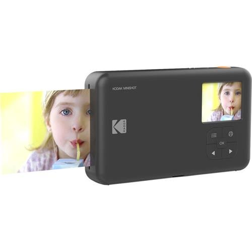KODAK Mini Shot Wireless Instant Digital Camera & Social Media Portable Photo Printer, LCD Display, Premium Quality Full Color Prints, Compatible w/iOS & Android (Black) from Kodak