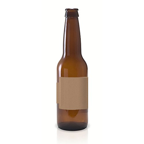 20 Full Wraparound Square Band Kraft Labels for Beer Bottles, 8.5 x 2.25 inches