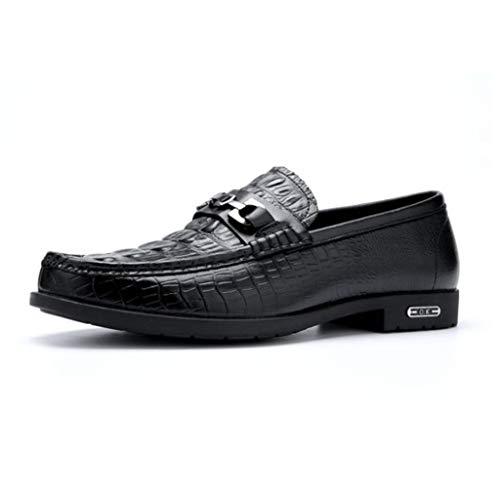 Zapatos Pisos Suela De Blanda Conducción Mocasines Ante Calzado Ligeros Informales Black Gamuza wAxgq