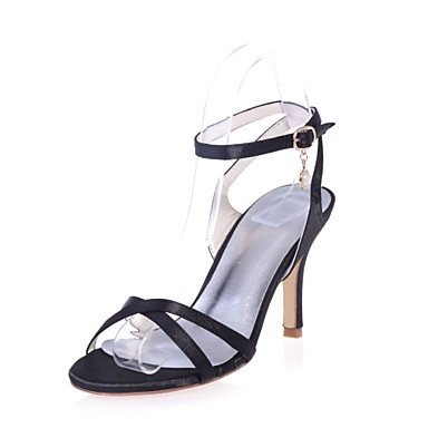 Strap More Stiletto CN40 Satin Shoes Toe Eveningshoes amp;Amp; Available US8 Ankle UK6 5 Colors Sandals Heel Open Wedding 5 Party EU39 Women'S EqOXwSg1