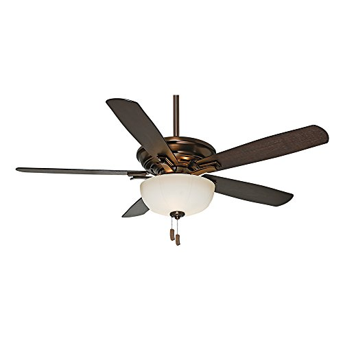 Casablanca 54080 Academy Gallery 54-Inch Ceiling Fan with Five Burnt Walnut/Walnut Blades and Light, Bronze Patina