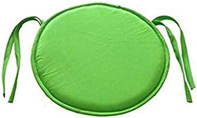 Smartrich Cuscini rotondi per sedia, per giardino, patio, cucina, sala da pranzo (38 x 38 x 2 cm), Poliestere, Verde., 38 * 38 * 2cm