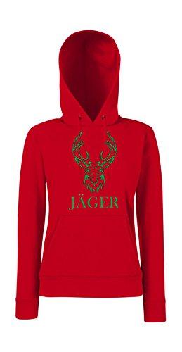 Textilmonster - Sudadera con capucha - para mujer Rojo