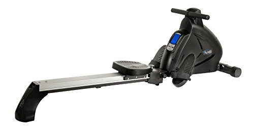 Avari A350-700 Stamina Programmable Magnetic Exercise Rower, 81' L x 20' W x 24.5' H, Black/Silver
