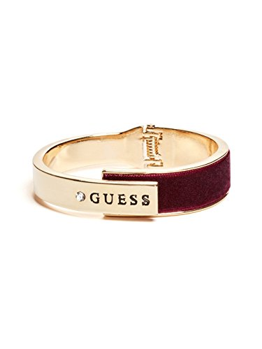 Guess Gold Bangles (GUESS Factory Women's Gold-Tone Logo Velvet Bangle)