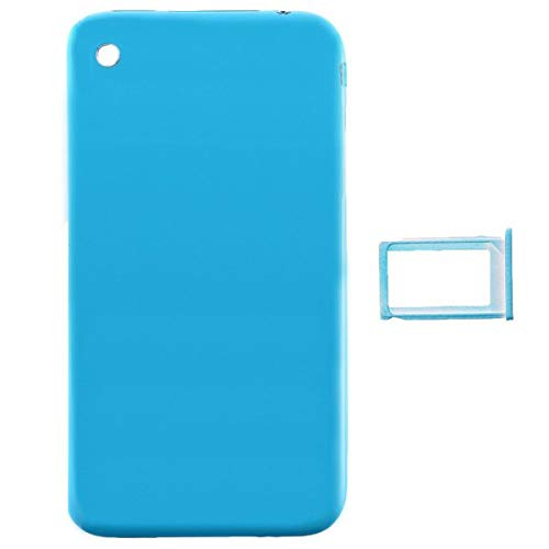Door with Chrome Bezel for Apple iPhone 3G (Blue) with Glue ()