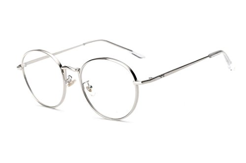 LNGRY Women Clear Lens Glasses Metal Spectacle Frame Myopia Eyeglasses Glasses - Oversized Spectacles