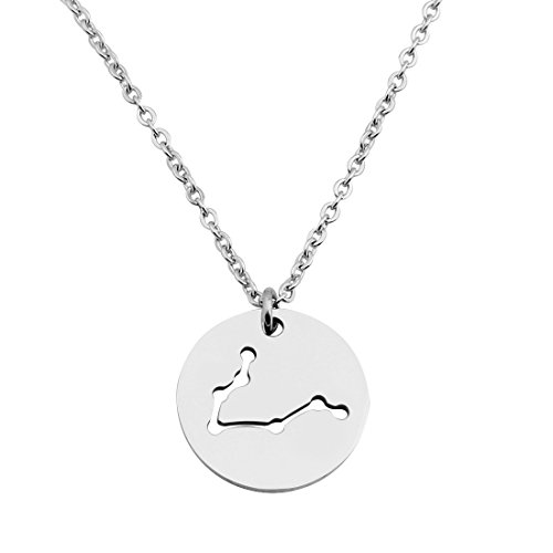 Zodiac Stainless Steel Necklaces Pendants - 7
