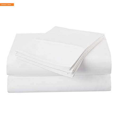 Mikash New Soft 1500 Series Premium Quality 100% Brushed Soft Microfiber 3-Piece Luxury Deep Pocket Cooling Bed Sheet Set, Hypoallergenic, Wrinkle and Stain Resistant - Twin, White | Style 84600493