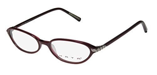 Kata Blade 3 For Ladies/Women Designer Full-Rim Shape Comfortable Light Style In Style Eyeglasses/Eyeglass Frame (51-16-135, Berry/Gunmetal)