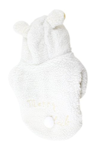 Uxcell Sheep Style Single Breasted Pet Dog Chihuahua Coat Apparel, X-Large, White