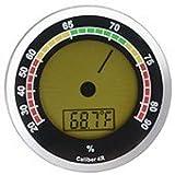 Cigar Oasis Caliber 4R Silver Hygrometer