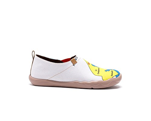 Uin Womens Monaco Karta Målade Tillfällig Canvas Shoe Blue