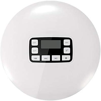 Bluetooth CDプレーヤー、電子スキップ保護および耐衝撃機能を備えたポータブルディスクプレーヤー、LCDディスプレイ、ホームトラベルカー用、ホワイト