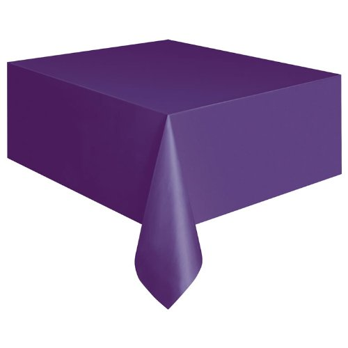 "Purple Plastic Table Cover 54"" x 108"" Rectangle, Health Care Stuffs"