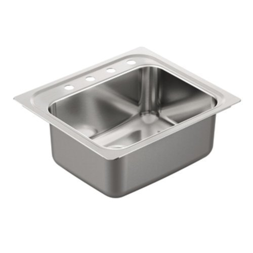 Moen G181974 1800 Series 18-Gauge Single Bowl Drop In Sink, Stainless Steel by Moen by Moen