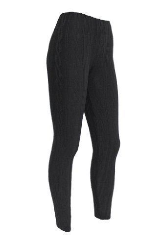 3889d1725d4f2a WOMENS CHUNKY CABLE KNITTED LEGGINGS: Amazon.co.uk: Clothing