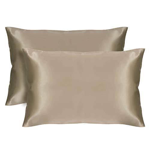 Amazon.com: VEEYOO - Juego de fundas de almohada de satén ...