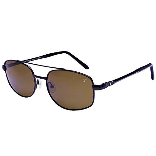 Xezo UV 400 Titanium Polarized Sunglasses with Dark Brown Lenses, Black/chrome, 0.7 - Spy Polarized Mo Dirty