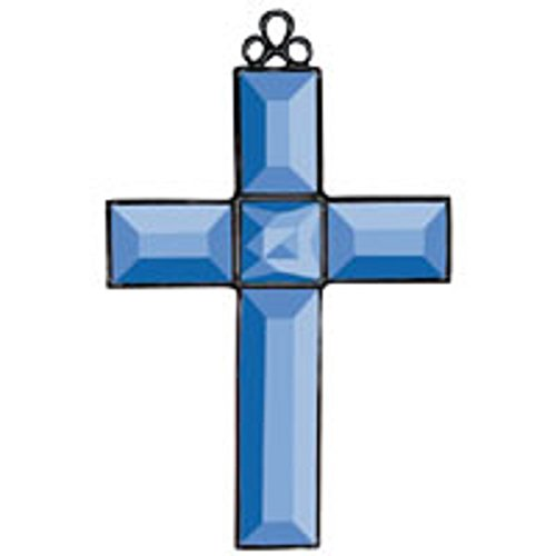 Stained Glass Supplies Blue Cross of Distinction Bevel Cluster Kit