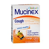 Mucinex Children's Cough Mini-Melts Packets Orange Creme Flavor - 12 Each, Pack of 6 by Mucinex