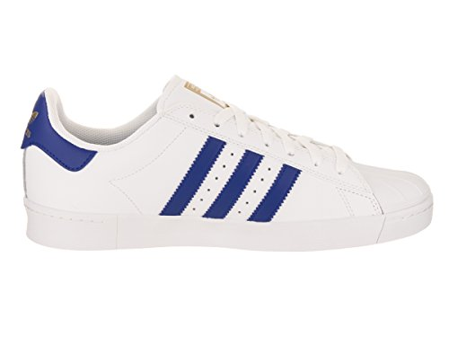 adidas Originals Herren Superstar Vulc ADV Schuhe Schuhe Weiß / Collegiate Royal / Gold Metallic