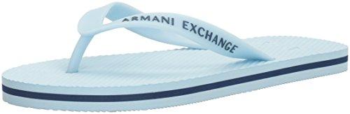 A X Armani Exchange Mens Armani Exchange Solid Flip Flop Cool Blue/Deep Blue