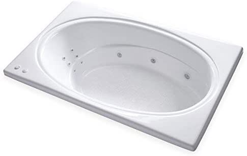 Carver Tubs – SR7242 – Heated 12 Jet Whirlpool – 72 L x 42 W x 19 H – White Oval Drop In Bathtub Right Hand Motor