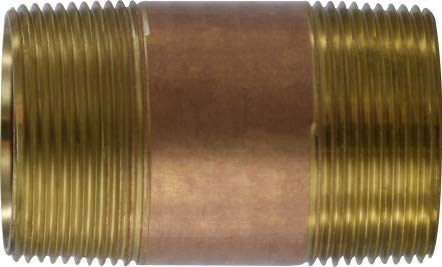 6 Length 6 Length 1-1//2 Diameter Midland Metal 1-1//2 Diameter Midland 40-149 Brass Nippple