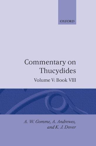 Commentary On Thucydides Volume 5. Book VIII