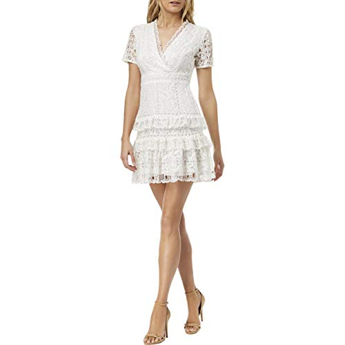 - French Connection Women's All Over Lace Dresses, Linen White Arta, 2