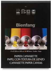 Bienfang Canvas (Bienfang 9-Inch by 12-Inch Canvas Paper Pad, 10-Sheet)