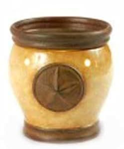 Texas Star Electric Ceramic Tart Candle Warmer (Gold)