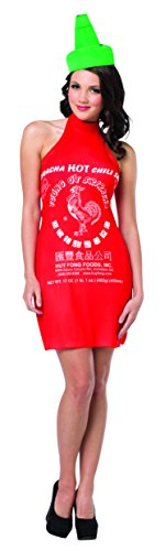 Rasta Imposta Women's Sriracha Dress, Red, One - Costume Soy Sauce
