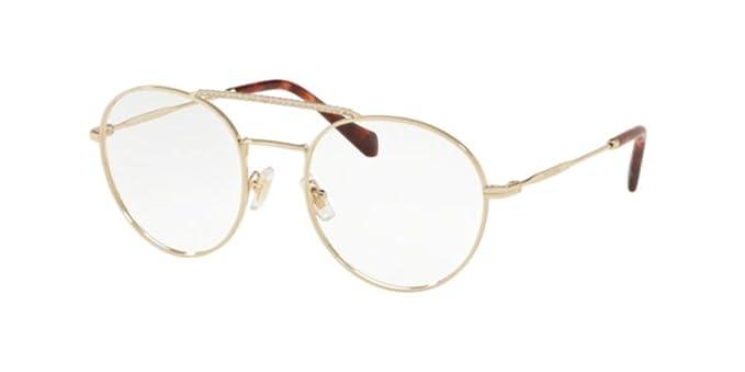 ecaee243ff8 Miu Miu - Monture de lunettes - Femme Or or 52  Amazon.fr  Vêtements ...