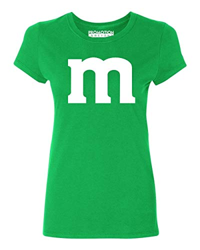 Promotion & Beyond M Halloween Team Costume Funny Party Women's T-Shirt, S, Green -