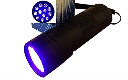 Uv Flashlight 21led 380-385nm Best Wavelength to Detect Pet Stains, Spot Scorpions, Verify Currency.