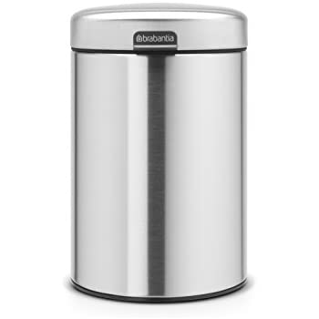 c0d21acf332 Amazon.com  DWBA Round Stainless Steel Wall Mounted Waste Can ...