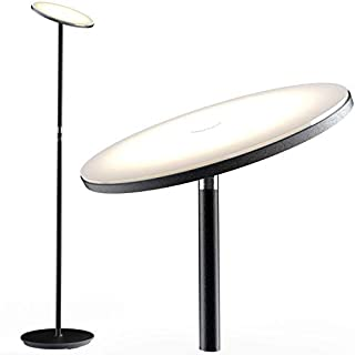 Nekteck LED Floor Lamp, Bright Lighting Torchiere Floor Lamps for Living Rooms, Bedrooms and Office with Modern Design and Touch Control Tall Standing Pole Light, 30w/2000LM, 3000K Warm White