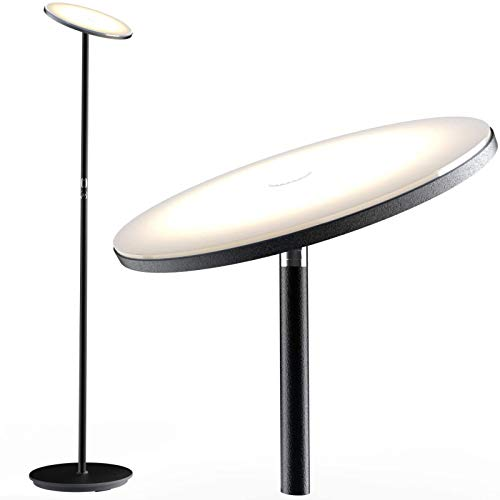 Nekteck LED Floor Lamp, Bright Lighting Torchiere Floor Lamps for Living Rooms, Bedrooms and Office with Modern Design…