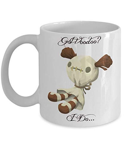 Nat999Lily Got Voodoo Doll Mug Voodoo Doll Voodoo Mug Doll Magic Santeria Witchcraft Voodoo Queen Coffee Mug Coffee Cup Dolly Halloween ()