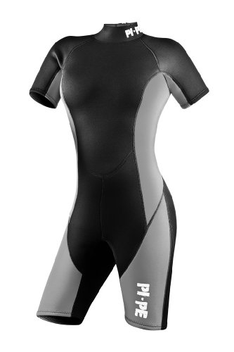 PI-PE Ladies Neopren Wetsuit Shorty Pure S Grey (Wetsuit Womens Shorty)