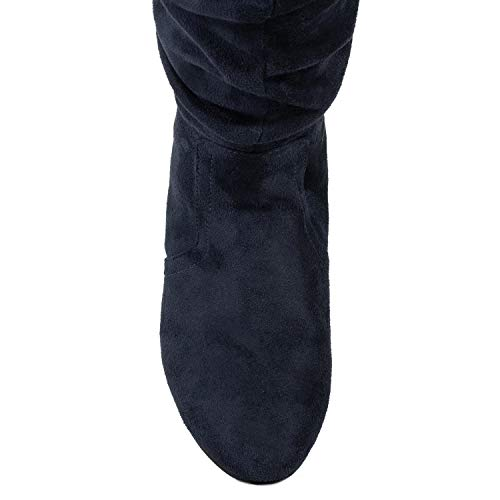 Pocket Suede Vegan Medium OF Calf ROOM Boots Navy Knee Soft FASHION Women's Slouchy High Hidden RF c4vOZqW66